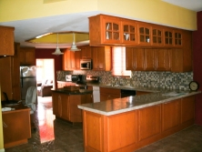Beautiful Hardwood Kitchen for Belize properties