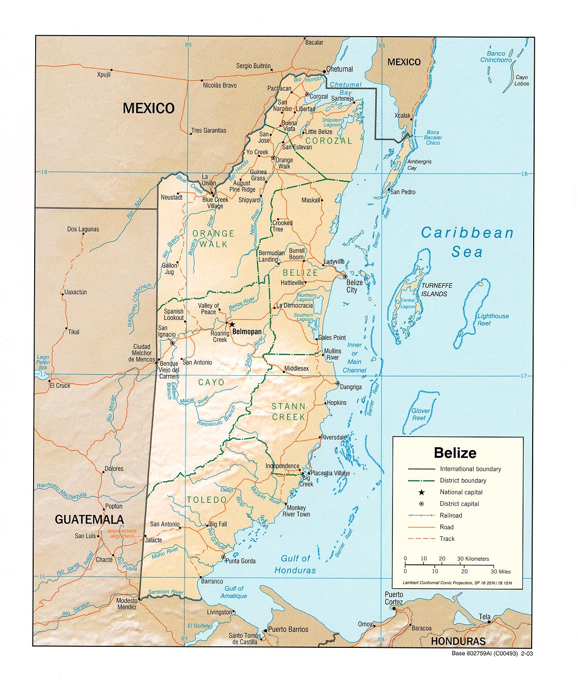 Maps Of Belize District Maps Of Belize City And Town Maps Of Belize Belize Real Estate