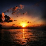 Beautiful Belize sunset